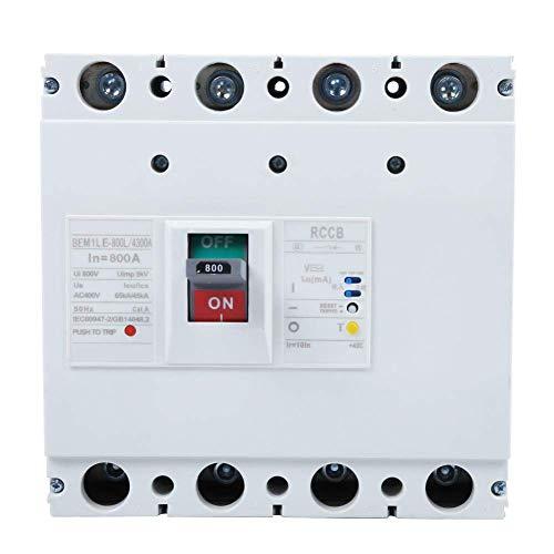 YISUNF Interruptor de Circuito de Interruptor 800V 800A 3P + N Protección Fuga de Aire del Interruptor de Circuito