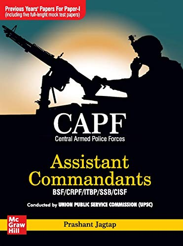 CAPF Previous Years Papers for Paper 1 ; 5 Full Length + CAPF Paper 1 - General Ability & Intelligence (Assistant Commandants BSF/CRPF/ITBP/SSB/CISF) (Set of 2 Books)