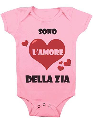 Body da Neonato Sono L'Amore della Zia Body Simpatico Bimbi, da 3 a 24 Mesi by tshirteria