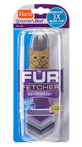 Hartz Groomer's Best Fur Fetcher De-Shedder Cat Brush