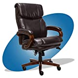 La-Z-Boy Big and Tall Trafford Executive Office AIR Technology, High Back Ergonomic Chair with Lumbar Support, Brown Bonded Leather