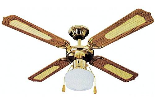 Kooper Ventilatore da soffitto con 4 Pale, 106 cm, Marrone 60 W