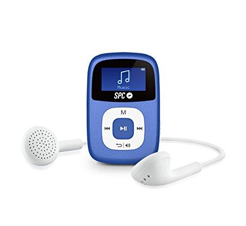 SPC Sparrow Reproductor MP3 con Radio FM y Pantalla Iluminada, 4 GB