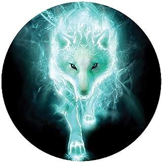 Reflektierende Aufkleber für Helm Wolf Neon