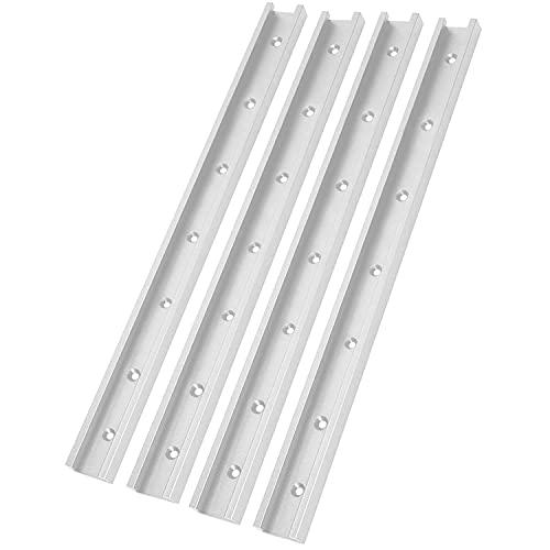 4 Stück 1220mm T-Schienenrampe Aluminiumlegierung T-Track T-Slot Track T-Schiene Holzbearbeitung T-Nut Gehrungsschiene für Holzbearbeitung Oder Router Tischsäge