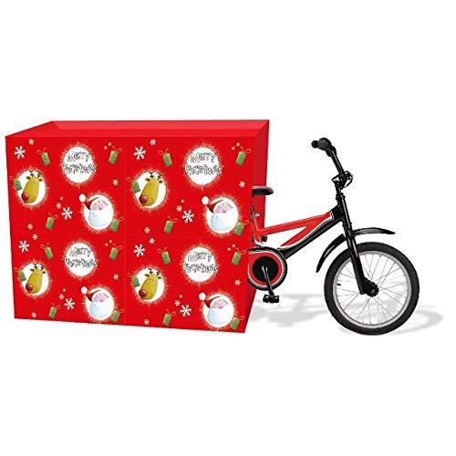The Home Fusion Company Jumbo Weihnachten Fahrrad Groß Geschenk Sack Wickel Tasche 128cm X 100cm