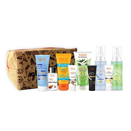 VLCC Refresh and Glow Kit with Pouch | skin Care, Hair Care, hygiene Essentials Combo for women | beauty combo set for…