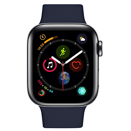 Gaoxinqi コンパチブル Apple Watch バンド 42mm 44mm プレミアムソフトシリコン交換リストバンドiWatch Series 5/4/3/2/1に対応、iWatchは含まれていません(M/L) (42MMM/44MM, ミッドナイトブルー)