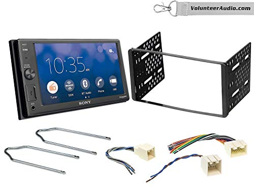 Sony XAV-AX1000 Double Din Radio Install Kit With Apple CarPlay, Sirius XM Ready, NO CD Player Fits 2001-2004 Escape, 2000-2004 Excursion, 1999-2004 F-150, 2001-2003 Mustang