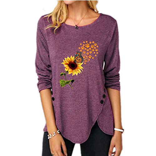 Women's Ls Baby Tee T-Shirt(H-Purple,...