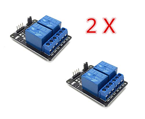 AptoFun 2 Pezzi Scheda interfaccia relè 5V 2 canali per Arduino Raspberry Pi Arm AVR DSP PIC (2 canali)