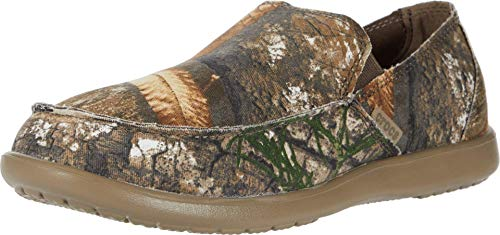 crocs Herren Men's Santa Cruz Realtree Edge Loafer|Casual, Comfortable Slip On Shoe Halbschuhe, Khaki, 46 EU
