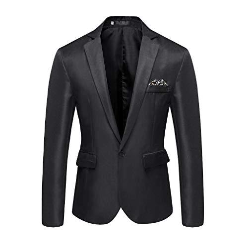 Herren Sakko klassisch Reverskragen Blazer Seidiges Gefühl Jackett Anzug Slim Fit bequem Männer Blazer Kleid Modern Freizeit Leichte Partyhochzeit Jacke