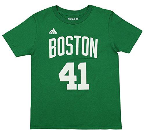 adidas NBA Youth's Boston Celtics Kelly Olynyk Camiseta de manga corta Game Time Tee, verde, Atlético, 8, Verde