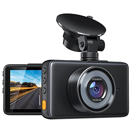 Dashcam 1080P Cámara de Coche Grabadora para Coche, 170° Gran Angular, G-Sensor, Monitor de Aparcamiento, Grabación en Bucle, Visión Nocturna