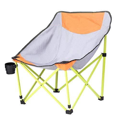 JYQ-SZRQ Silla de Camping Plegable Presidente platillo Plegable al Aire Libre de la Luna con el Titular de la Copa y la Bolsa de Transporte, soporta 100 kg de Caminante Campamento de la Playa