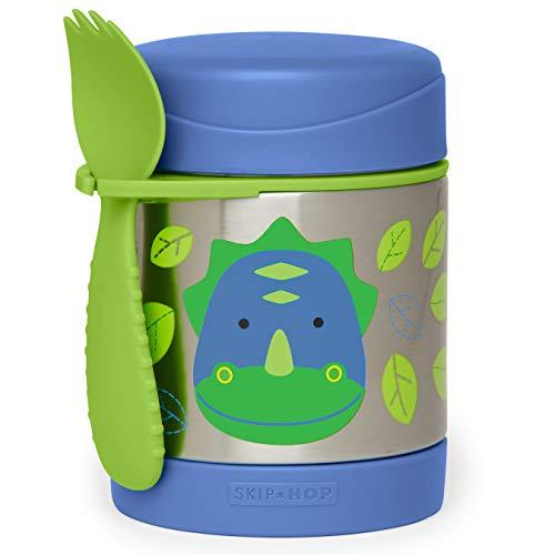 Skip Hop Aufbewahrungsbehälter, für Essen aus Edelstahl, isoliert, Dino Dakota, mehrfarbig
