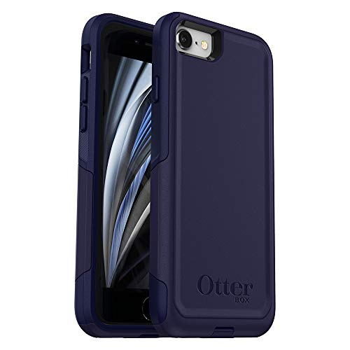 OtterBox COMMUTER SERIES Case for iPhone SE (2nd Gen - 2020) & iPhone 8/7 (NOT PLUS) - Retail Packaging - INDIGO WAY (MARITIME BLUE/ADMIRAL BLUE)
