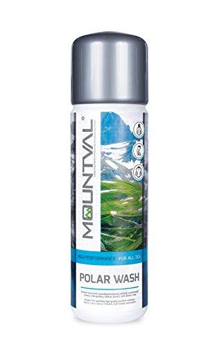Mountval Fleece-Waschmittel Polar Wash Kraftvoller Reiniger für Outdoor- und Wanderbekleidung aus Fleece, Faserpelz und Elastikgewebe | Für frische und geschmeidig Kleidung | Auf Wasserbasis.