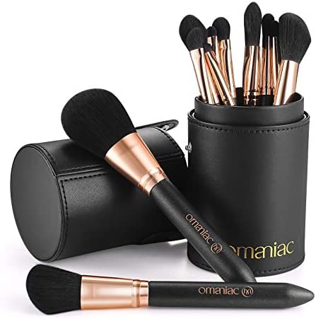 OMANIAC Professional Makeup Brushes Set 12Pcs Pearl Flash Handles Comfortable To Hold And Easy product image
