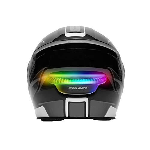 STEEL MATE Motorcycle Helmet Signal Light for Safety, Rechargeable LED Brake Light for Helmet, Wireless Helmet Brake & Turn Signal Lightmode Night Light Indicators
