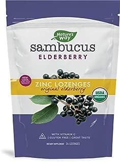 Nature's Way Organic Lozenge, Elderberry Zinc, 24 Count, Pack of 2
