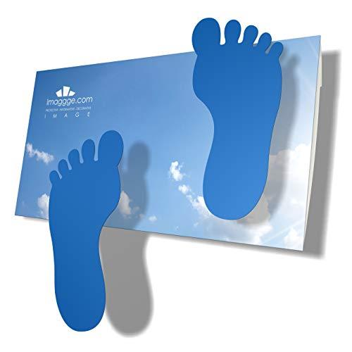 imaggge.com Pegatinas infantiles para pisos, azulejos, hormigón, vinilo, juego de 24 patas adhesivas azules