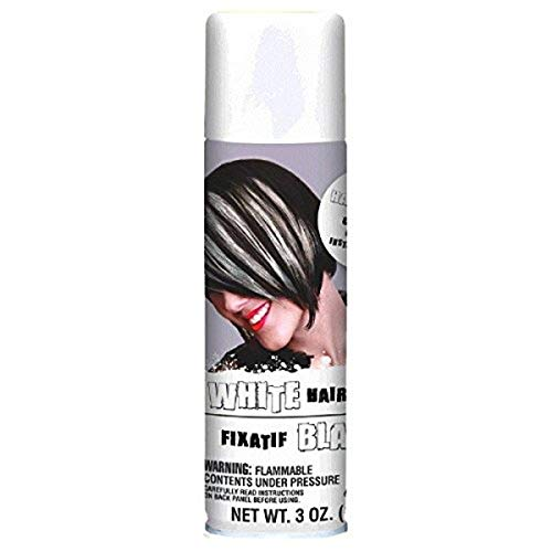 White hair spray