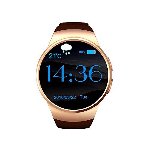 Madmax MJ Wrist Watch supporte SIM/TF Carte Multifonctionnelle Bluetooth Smart Phone Watch Montres Téléphone santé (doré)