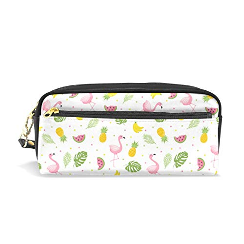 Chic Houses Cute Flamingo Cosmetic Bag Stationery Pencil Pouch Summer Cartoon Pattern Wash Pouch Travelling Portable for Student and Women 2030061