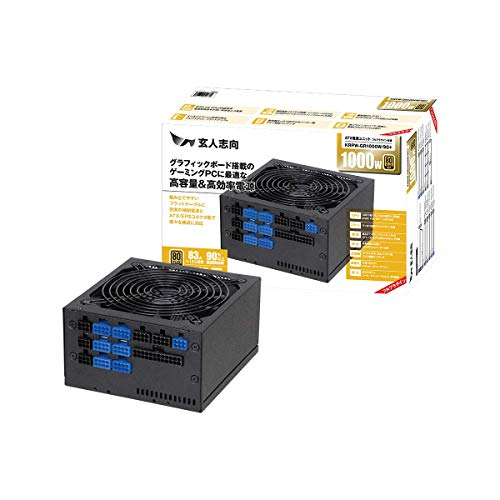 玄人志向 80Plus GOLD 1000W ATX電源ユニット プラグイン KRPW-GR1000W/90+