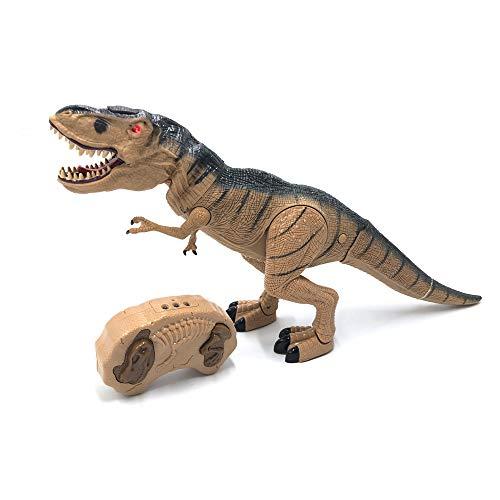 Tiranosaurio Rex Dinosaurio Teledirigido RC Muy Realista! (Movimiento, Luz, Sonido y Humo) con Mando...