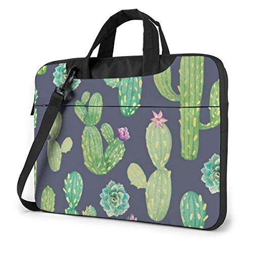 Laptop Sleeve with Handle Tablet Carrying Case Cases Cactus Tropical Plant Cacti Floral Neoprene Notebook Computer Bag