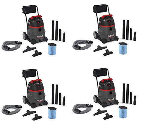 Great Deal! RIDGID 50348 1400RV Wet Dry Vacuum with Cart, 14-Gallon Shop Vacuum with 6.0 Peak HP Mot...