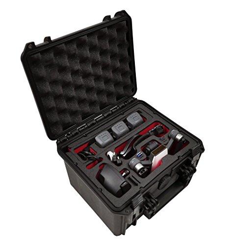Neu: Profi Transportkoffer für DJI Spark Fly More Plus, Aufladen der Akkus im Koffer. Platz für die komplette Fly More Combo oder bis zu 6 Akkus, wasserdichter Outdoor Case IP67, Made in Germany