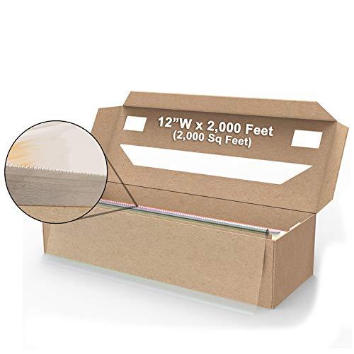 (12'W x 2,000 Feet) SealWrap Cling Classic ZipSafe Plastic Wrap PVC w/Cutter Box Clear Food Safe 305mm x 610m