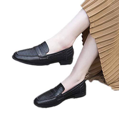 Huachaoxiang Anime Cosplay Schuhe Studenten Schuhe Masquerade Schuhe Bühne Schuh-Frauen-Weihnachtsfest Schuhe Customized,Schwarz,36