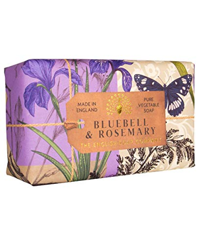 The English Soap Company, Bluebell & Rosemary Soap Bar, Anniversary Collection 200g