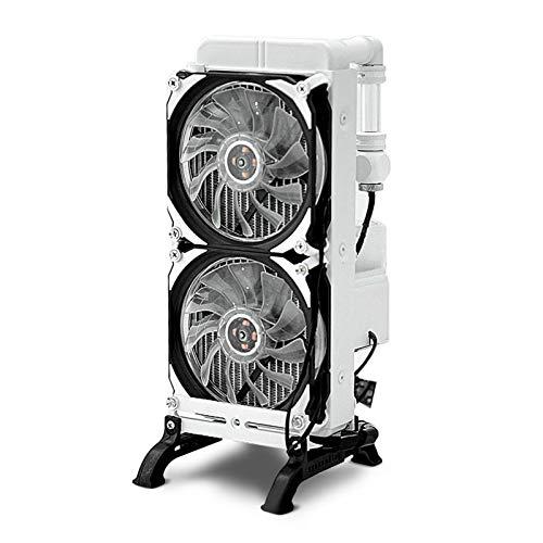 PC DIY Wasserkühlung Set, G1/4 Gewinde 200 L/H Wasserpumpe Computer Flüssigkeitskühlungsset, All in One Liquid Cooling Set mit DIY Lüfter Kühlkörper für PC Wasserkühlung