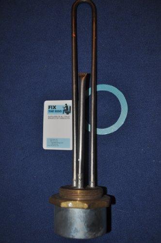 INCOLOY Tauchsieder 45,7cm, mit 28-cm-Thermostat, von BEAB genehmigt, 3KW, 2,25 BSP-Stecker, entspricht RoHS und EN 60335-2-73
