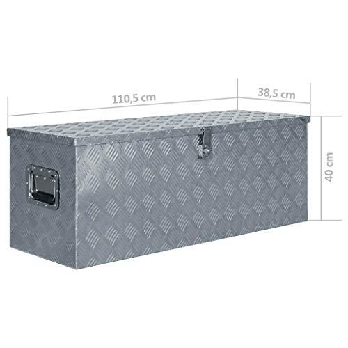 vidaXL Werkzeugbox Aluminium 110,5×38,5x40cm Alu Box Koffer Transportkiste - 6