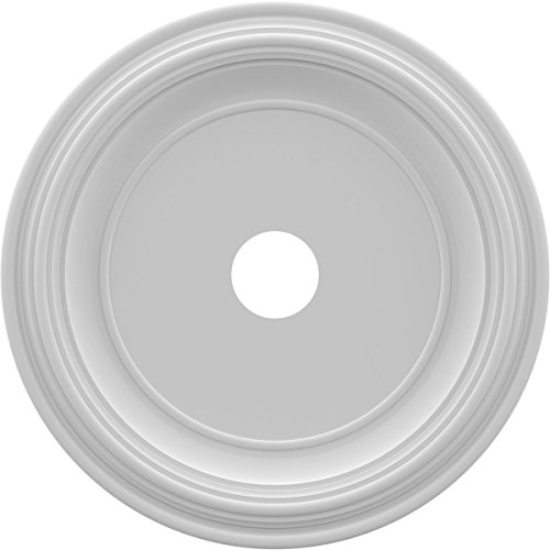 Ekena Millwork CMP22TR Traditional Thermoformed PVC Ceiling Medallion, 22