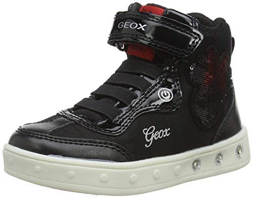 Geox J Skylin Girl J Shoes, Black/RED, 31 EU