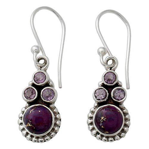 Myhouse Vintage Natural Stone Pendant Earrings for Women Girls Charm Accessories