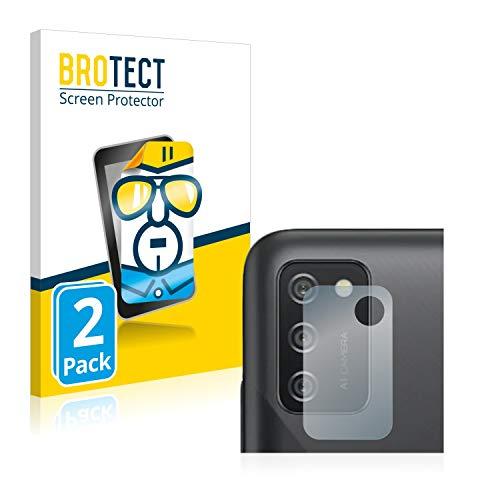 BROTECT Schutzfolie kompatibel mit Samsung Galaxy A02s (NUR Kamera) (2 Stück) klare Bildschirmschutz-Folie