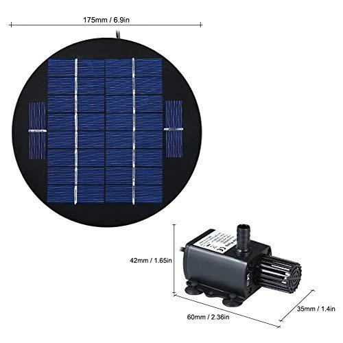 Fonteinpomp op zonne-energie, waterpomp op zonne-energie, voor buitenvijver in de tuin