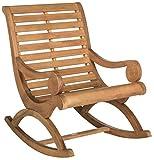 Safavieh Outdoor Collection Sonora Rocking Chair, Teak Brown
