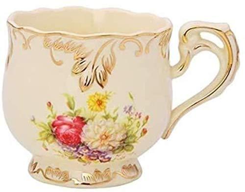Copa Espresso, taza del viaje, taza de la taza de cristal, taza de Cappuccino, China taza de té, Taza de café, de té de la taza de cerámica Copa platillo Conjunto, con el patrón floral platillos tazas