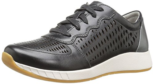 Dansko Women's Charlie Fashion Sneaker, Black Leather, 39 EU/8.5-9 M US