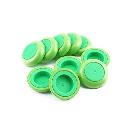 PIXNOR Refill disco dischi verde proiettile della pistola Blaster freccette giocattolo per Nerf - 10 pezzi